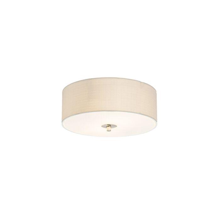 Landelijke-plafondlamp-creme-30-cm---Drum-Jute