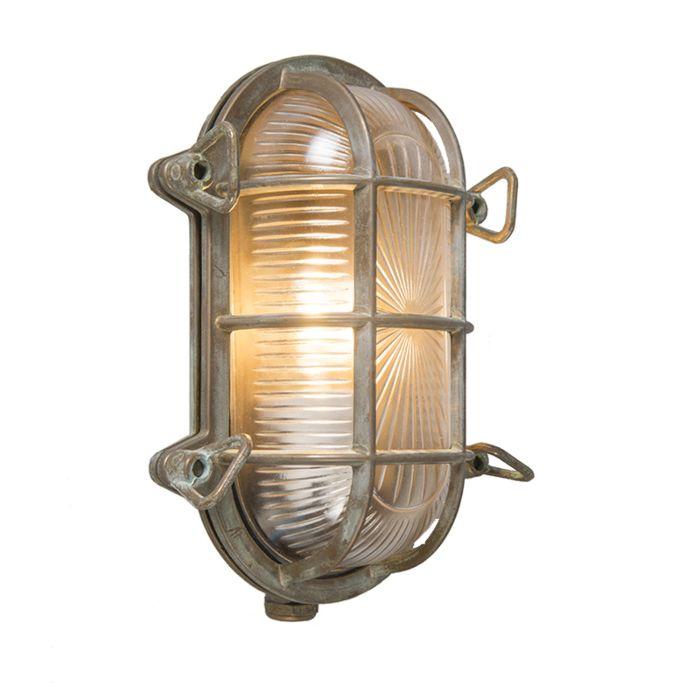 Wand--en-plafondlamp-bruin-23/16,5-cm-IP44---Nautica-1-ovaal
