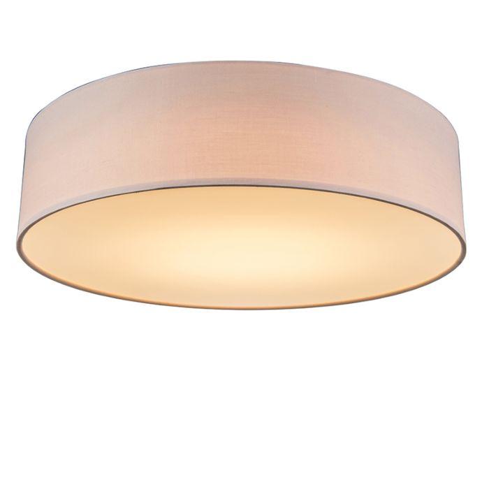 Plafondlamp-roze-40-cm-incl.-LED---Drum-LED