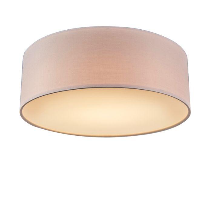 Plafondlamp-roze-30-cm-incl.-LED---Drum-LED