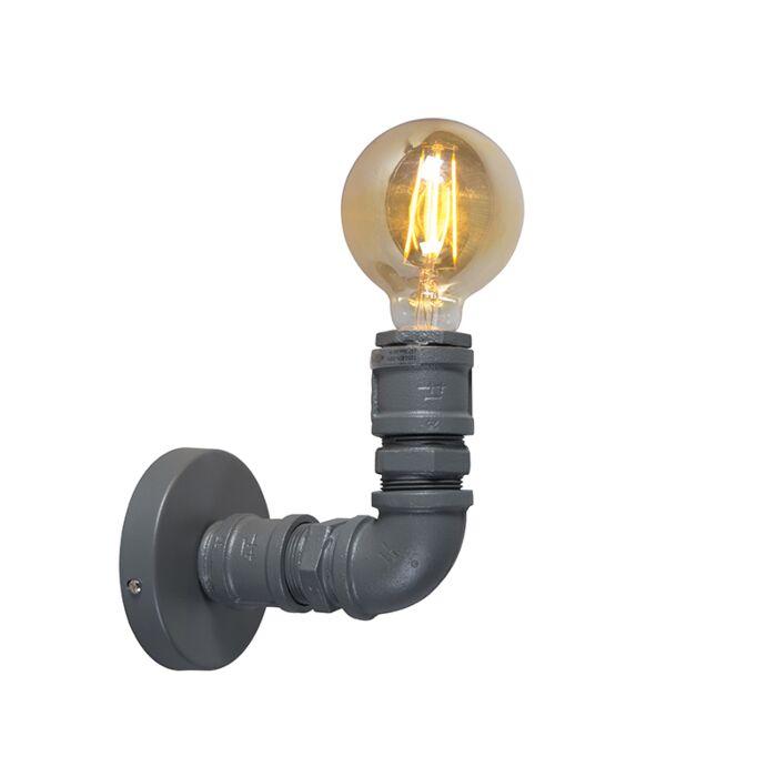 Industriële-wandlamp-donkergrijs---Plumber-1