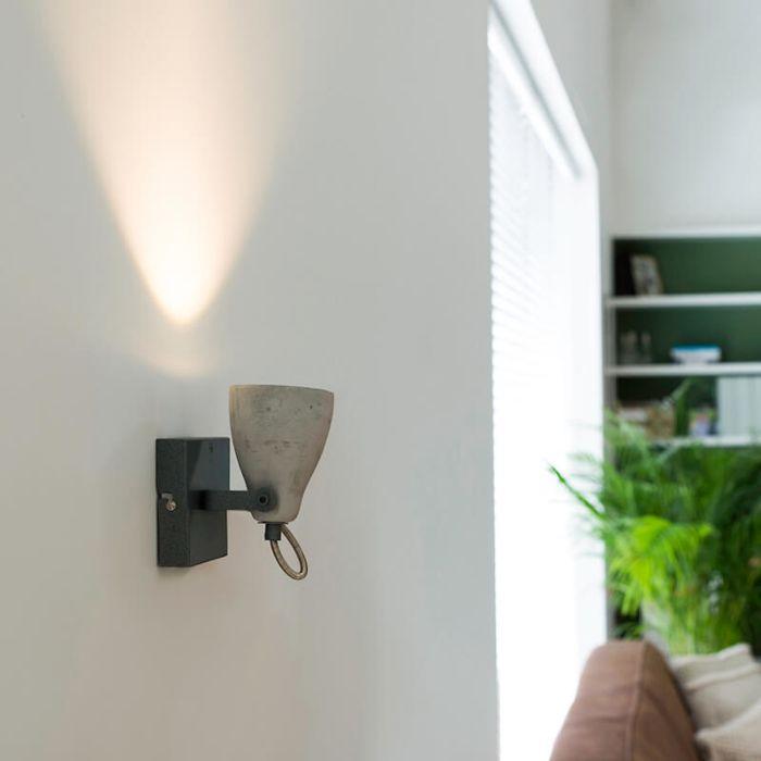 Industriele-spot-grijs-beton-1-lichts---Creto