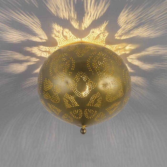 Zyan-plafondlamp-goud