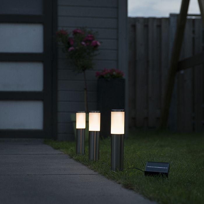 Prikspot-staal-incl.-LED-op-zonne-energie-set-van-3-IP44---Rox