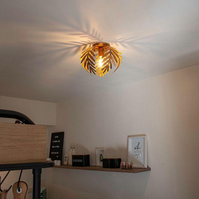 Vintage-plafondlamp-small-goud---Botanica