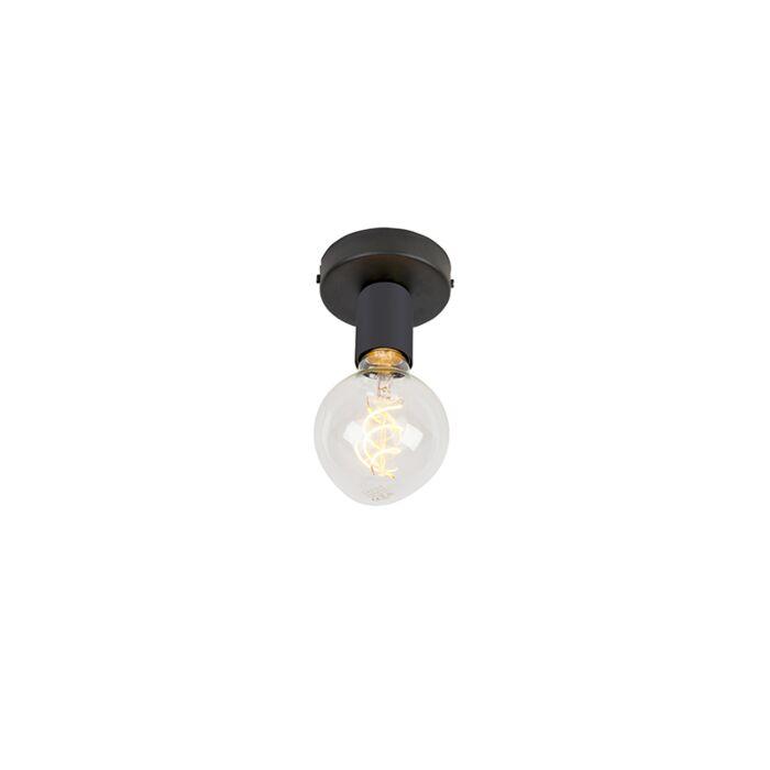 Moderne-plafondlamp-zwart-1-lichts---Facile
