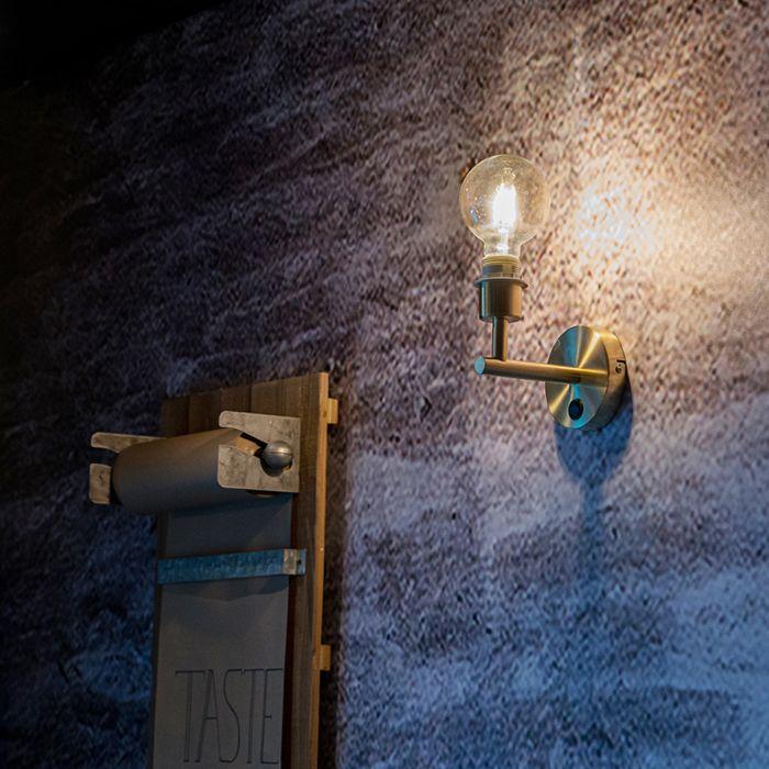 Moderne-wandlamp-goud-1-lichts-met-schakelaar---Combi
