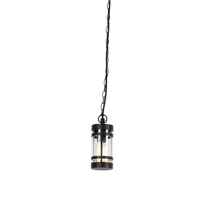 Moderne-buitenhanglamp-zwart-IP44---Gleam