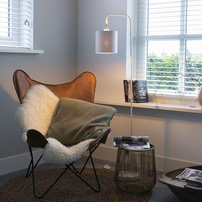 Moderne-vloerlamp-wit---Lofty