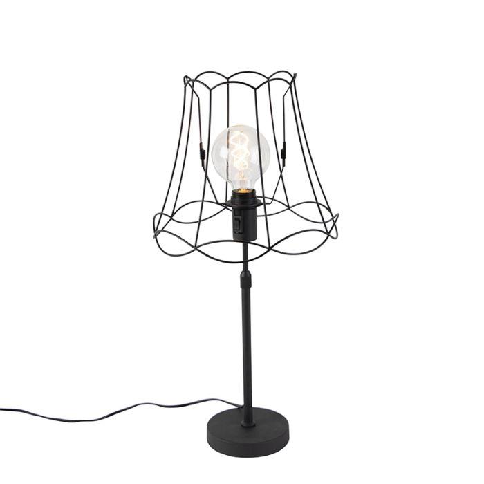 Tafellamp-zwart-met-Granny-Frame-30-cm-verstelbaar---Parte