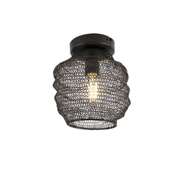Oosterse-plafondlamp-zwart---Nidum-Bene