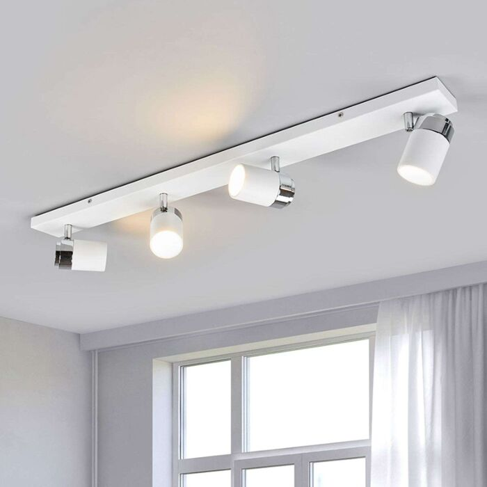 Moderne-4-lichts-badkamerlamp-chroom-met-wit-IP44---Kardo