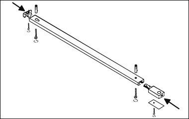 Bevestig het railsysteem aan het plafond