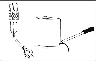Montage instructies - wandlamp - Een stekker aan een wandlamp bevestigen