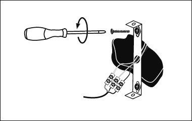 Montage instructies - wandlamp - bevestig de bevestigingsbeugel