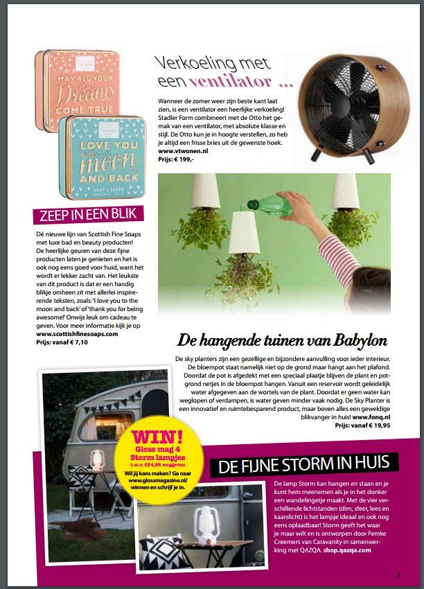 Gloss magazine - Storm Caravanity